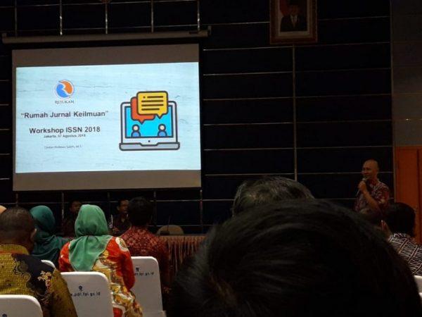 Dosen Prodi Hubungan Internasional, FISIP , Universitas Budi Luhur (Tulus Yuniasih, M.Sc.Soc.) mengikuti Workshop ISSN 2018 yang diselenggarakan oleh PDII-LIPI