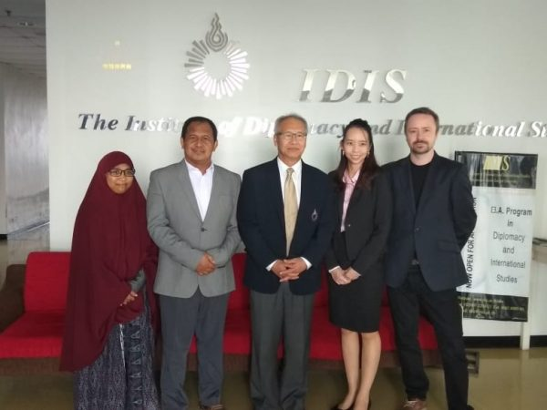 Prodi HI FISIP Universitas Budi Luhur & Institute of Diplomacy and Internasional Studies, Rangsit University, Thailand Melakukan Kerjasama